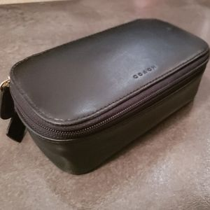 Coach Vintage Leather Zippered Cosmetic Case